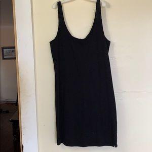 Simple cotton black dress